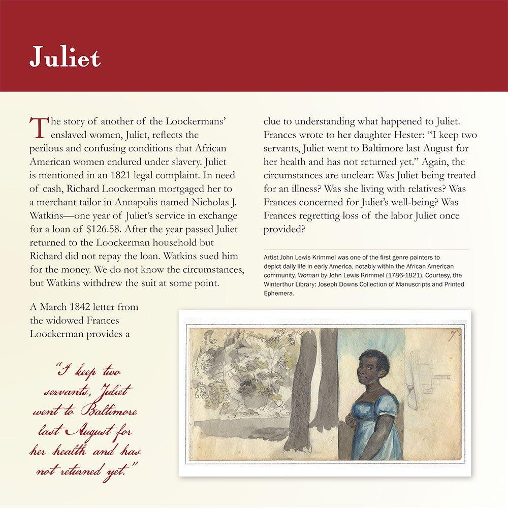 Slavery: Juliet