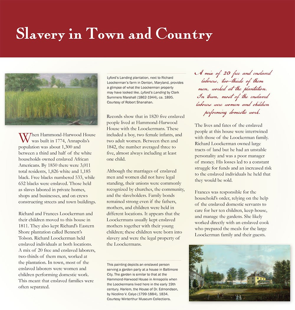 Slavery: In Town & Country